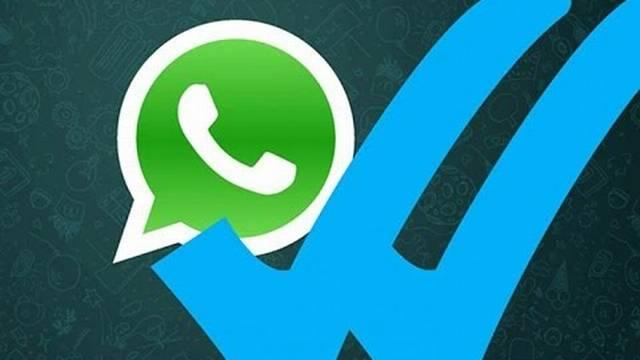 Sinal azul do WhatsApp